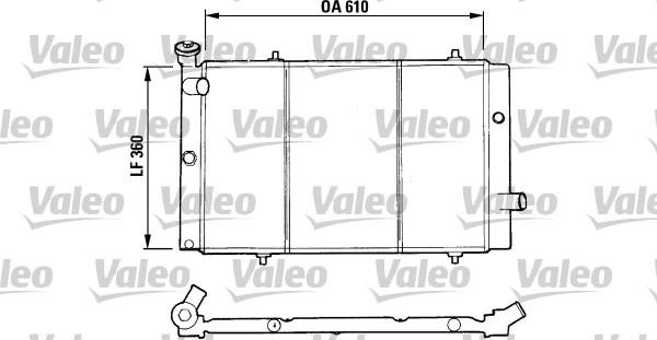 Radiateur, refroidissement du moteur - VALEO - 730015