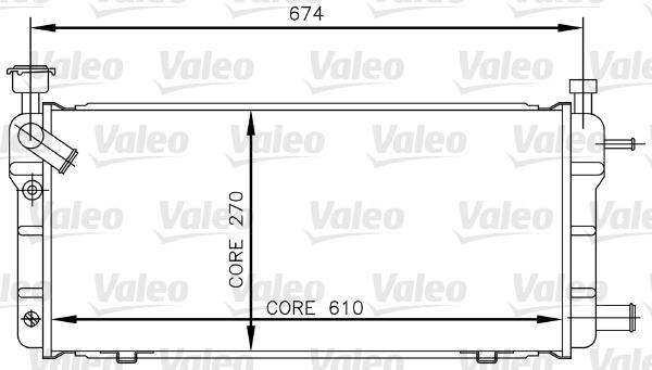 Radiateur, refroidissement du moteur - VALEO - 730018