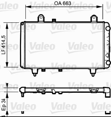 Radiateur, refroidissement du moteur - VALEO - 730040