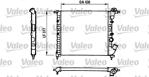 Radiateur, refroidissement du moteur - VALEO - 730055
