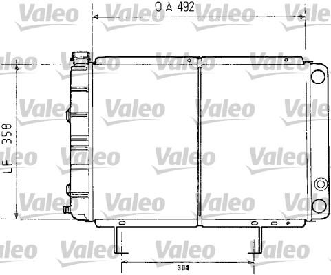 Radiateur, refroidissement du moteur - VALEO - 730071