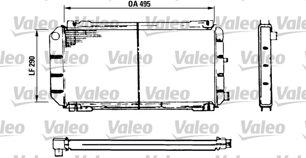 Radiateur, refroidissement du moteur - VALEO - 730116