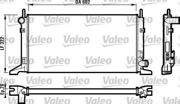 Radiateur, refroidissement du moteur - VALEO - 730117