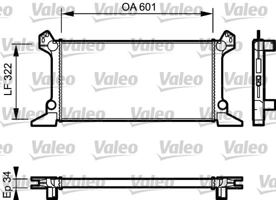 Radiateur, refroidissement du moteur - VALEO - 730124