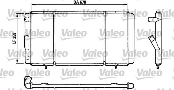 Radiateur, refroidissement du moteur - VALEO - 730140
