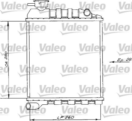 Radiateur, refroidissement du moteur - VALEO - 730172