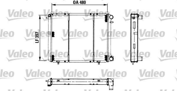 Radiateur, refroidissement du moteur - VALEO - 730180