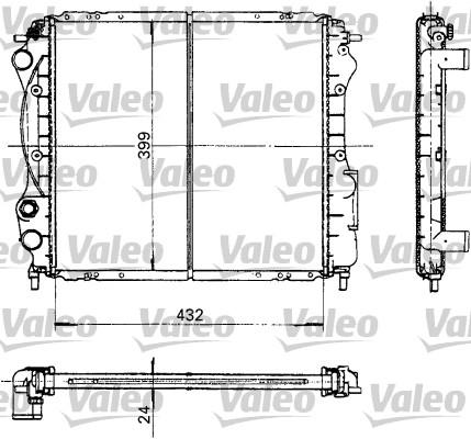 Radiateur, refroidissement du moteur - VALEO - 730181