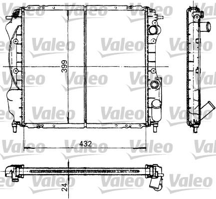 Radiateur, refroidissement du moteur - VALEO - 730182