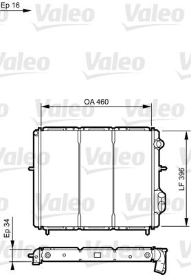Radiateur, refroidissement du moteur - VALEO - 730183