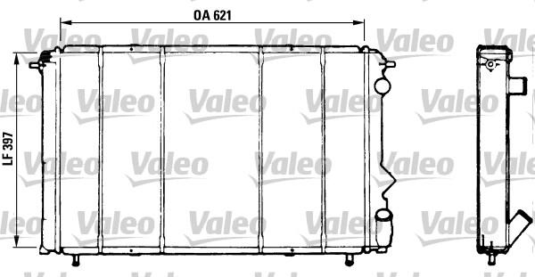 Radiateur, refroidissement du moteur - VALEO - 730184