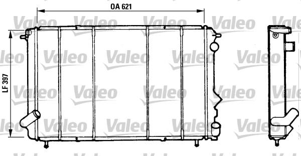 Radiateur, refroidissement du moteur - VALEO - 730185