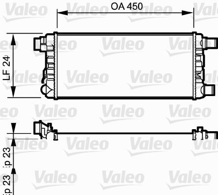 Radiateur, refroidissement du moteur - VALEO - 730309