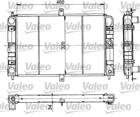 Radiateur, refroidissement du moteur - VALEO - 730317