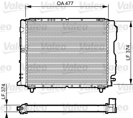 Radiateur, refroidissement du moteur - VALEO - 730319