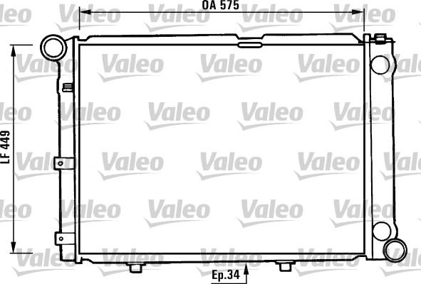 Radiateur, refroidissement du moteur - VALEO - 730344