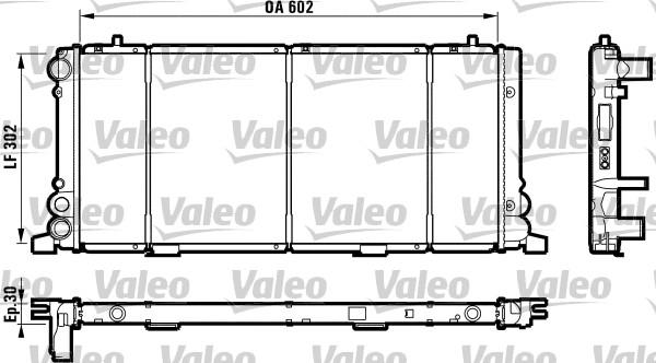 Radiateur, refroidissement du moteur - VALEO - 730349