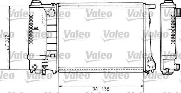 Radiateur, refroidissement du moteur - VALEO - 730365