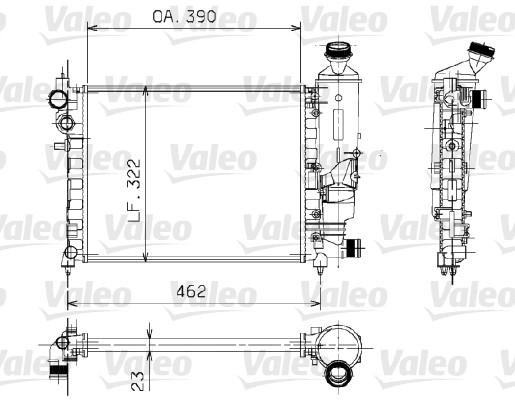 Radiateur, refroidissement du moteur - VALEO - 730372