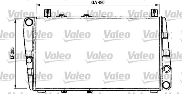 Radiateur, refroidissement du moteur - VALEO - 730375