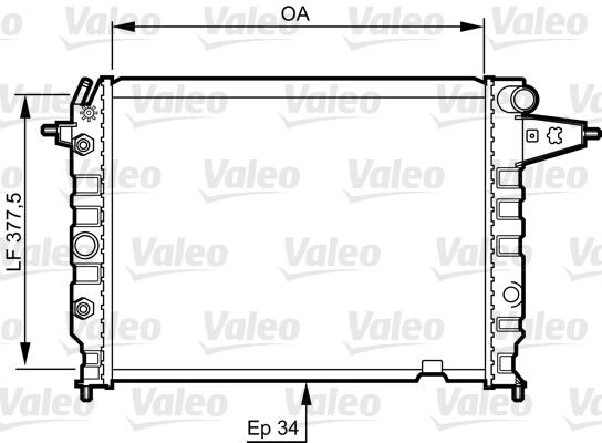 Radiateur, refroidissement du moteur - VALEO - 730395