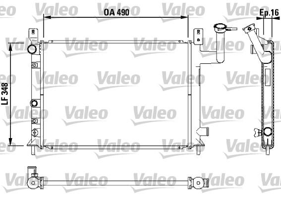 Radiateur, refroidissement du moteur - VALEO - 730404
