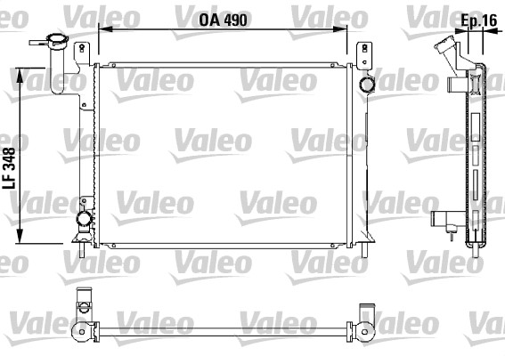 Radiateur, refroidissement du moteur - VALEO - 730406