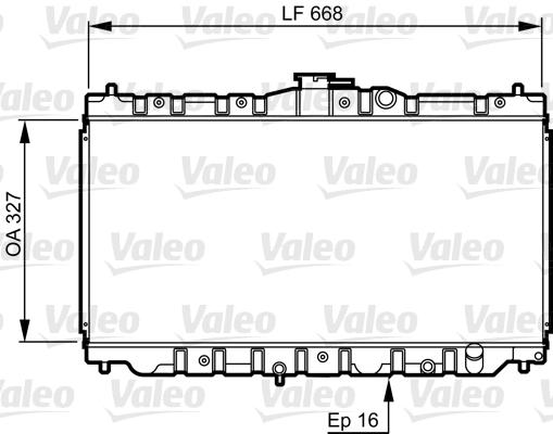 Radiateur, refroidissement du moteur - VALEO - 730423