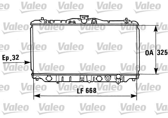 Radiateur, refroidissement du moteur - VALEO - 730430
