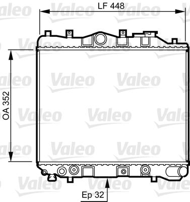 Radiateur, refroidissement du moteur - VALEO - 730435