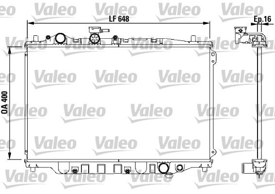 Radiateur, refroidissement du moteur - VALEO - 730440