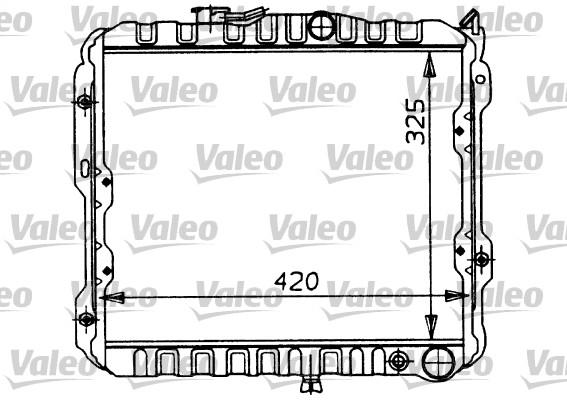 Radiateur, refroidissement du moteur - VALEO - 730449