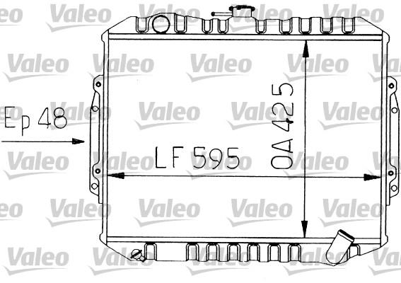 Radiateur, refroidissement du moteur - VALEO - 730454