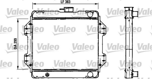 Radiateur, refroidissement du moteur - VALEO - 730457