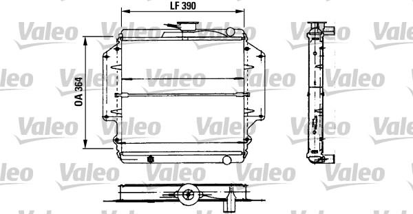 Radiateur, refroidissement du moteur - VALEO - 730458