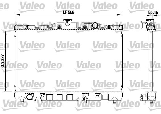 Radiateur, refroidissement du moteur - VALEO - 730468