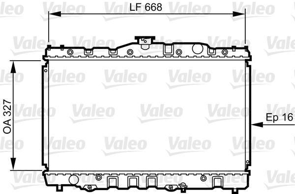Radiateur, refroidissement du moteur - VALEO - 730469