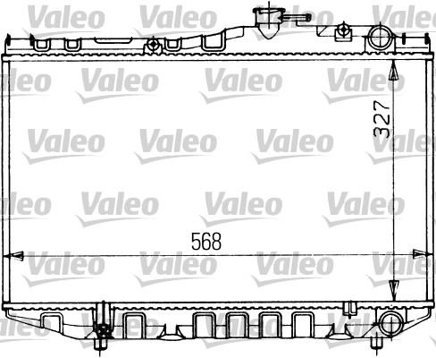 Radiateur, refroidissement du moteur - VALEO - 730470