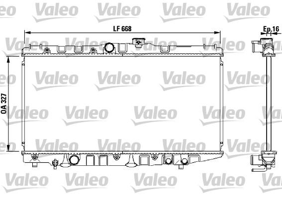 Radiateur, refroidissement du moteur - VALEO - 730471