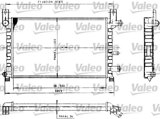 Radiateur, refroidissement du moteur - VALEO - 730483