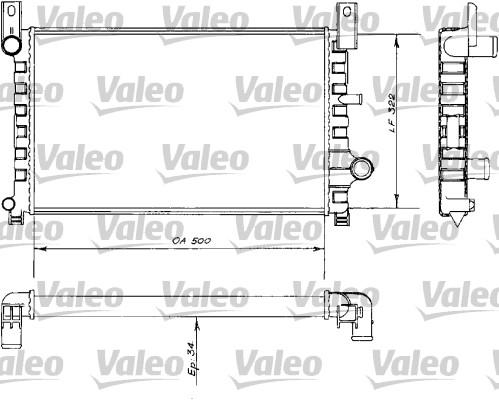 Radiateur, refroidissement du moteur - VALEO - 730484
