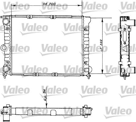 Radiateur, refroidissement du moteur - VALEO - 730485