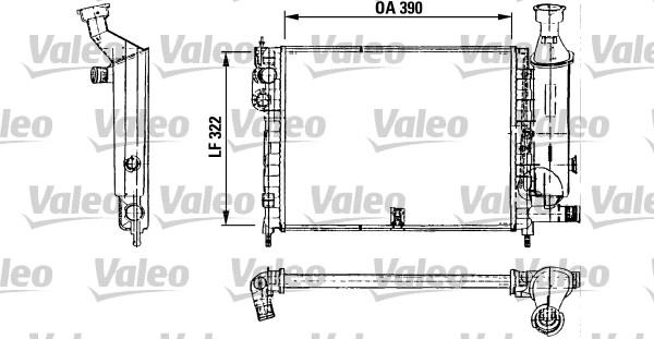 Radiateur, refroidissement du moteur - VALEO - 730491