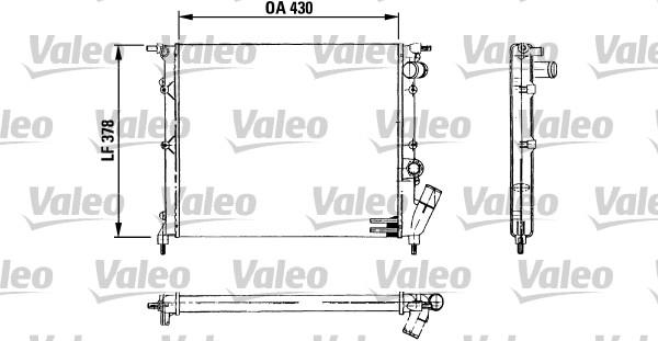 Radiateur, refroidissement du moteur - VALEO - 730499