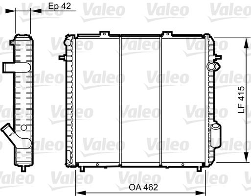 Radiateur, refroidissement du moteur - VALEO - 730502