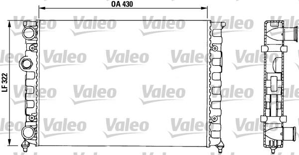 Radiateur, refroidissement du moteur - VALEO - 730503