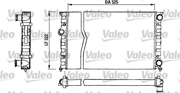 Radiateur, refroidissement du moteur - VALEO - 730505