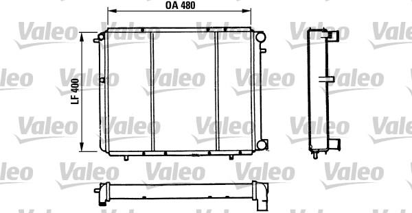 Radiateur, refroidissement du moteur - VALEO - 730511