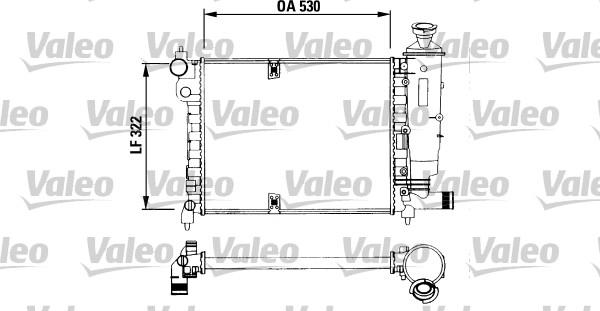 Radiateur, refroidissement du moteur - VALEO - 730515