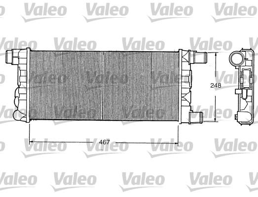 Radiateur, refroidissement du moteur - VALEO - 730520